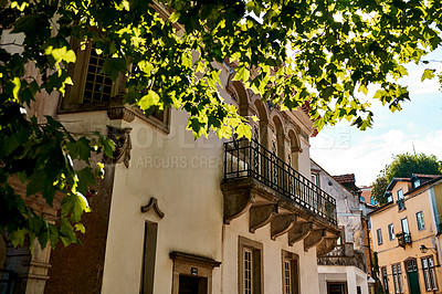 Buy stock photo Shot of a residential building in Sintra, Portugal