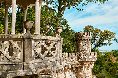 Buy stock photo Shot of a historical ancient castle in Sintra, Portugal
