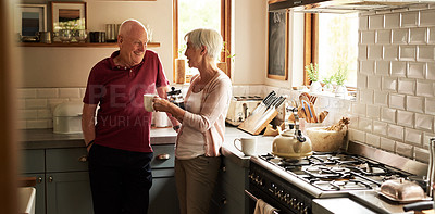 Buy stock photo Cropped shot of a senior couple spending quality time together at home