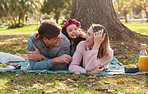 Nothing says family time like a picnic in the park