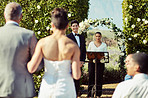 The moment he saw his bride for the first time