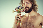 A man who loves flowers is still a man
