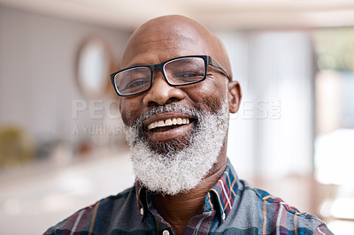 Buy stock photo Portrait of a mature man at home