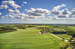 Aerial vies of the countryside in Denmark