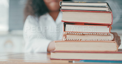 Buy stock photo Cropped shot of a young girl doing school work in a mathematics class