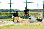 Dust is not uncommon in this sport