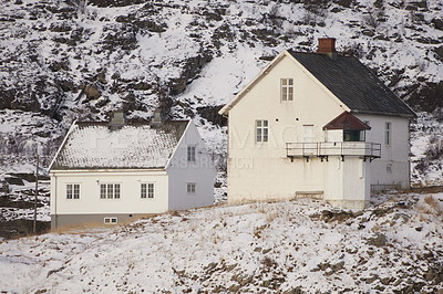 Buy stock photo The city of Bodoe and surroundings, North of the Polar Circle