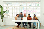 Creativity thrives when people work together as a team