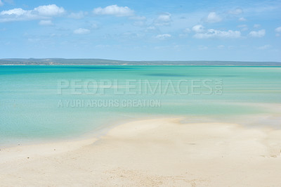 Buy stock photo Calm ocean close to Cape Town, South Africa