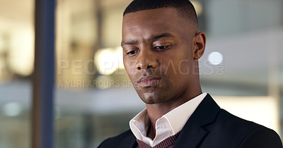 Buy stock photo Shot of a young businessman in an office