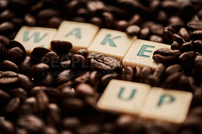 Buy stock photo Closeup shot of block letters forming the words