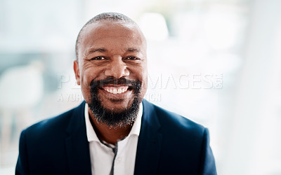 Buy stock photo Portrait of a mature businessman in an office
