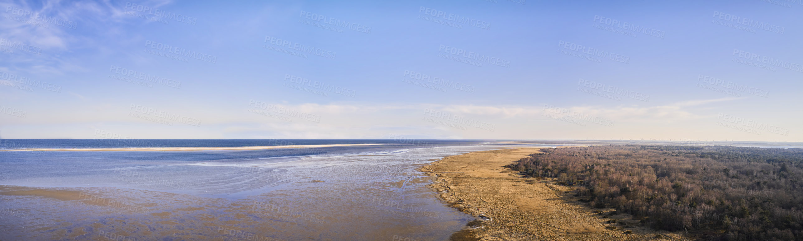Buy stock photo The east coast of Jutland facing Kattegat
