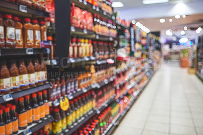 Buy stock photo Shot of an empty grocery store