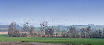 Buy stock photo A photo of farmland in autumn