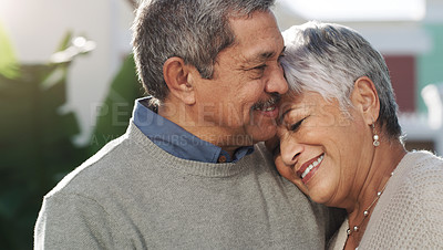 Buy stock photo Shot of a happy senior couple spending quality time in a garden
