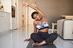 She's come up with her own at-home fitness routine