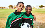 Growing up to become football sensations
