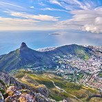 A photo of Lions Head and surroundings