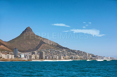 Buy stock photo A photo of Lions Head and Cape Town