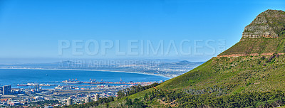 Buy stock photo Panorama photo of Cape Town, Western Cape, South Africa