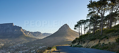 Buy stock photo A photo of Lions Head and surroundings. Cape Town, Western Cape, South Africa.