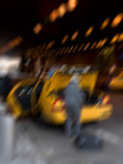 Manhattan - blurred taxi