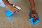 Make it a habit to keep surfaces as clean as possible