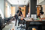 A creative workplace encourages collaboration