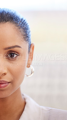 Buy stock photo Closeup shot of a young businesswoman at work