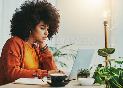 Buy stock photo Shot of a woman working in a  coffee shop