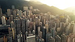 The hilly city of Hong Kong