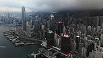 Overcast morning in the city of Hong Kong